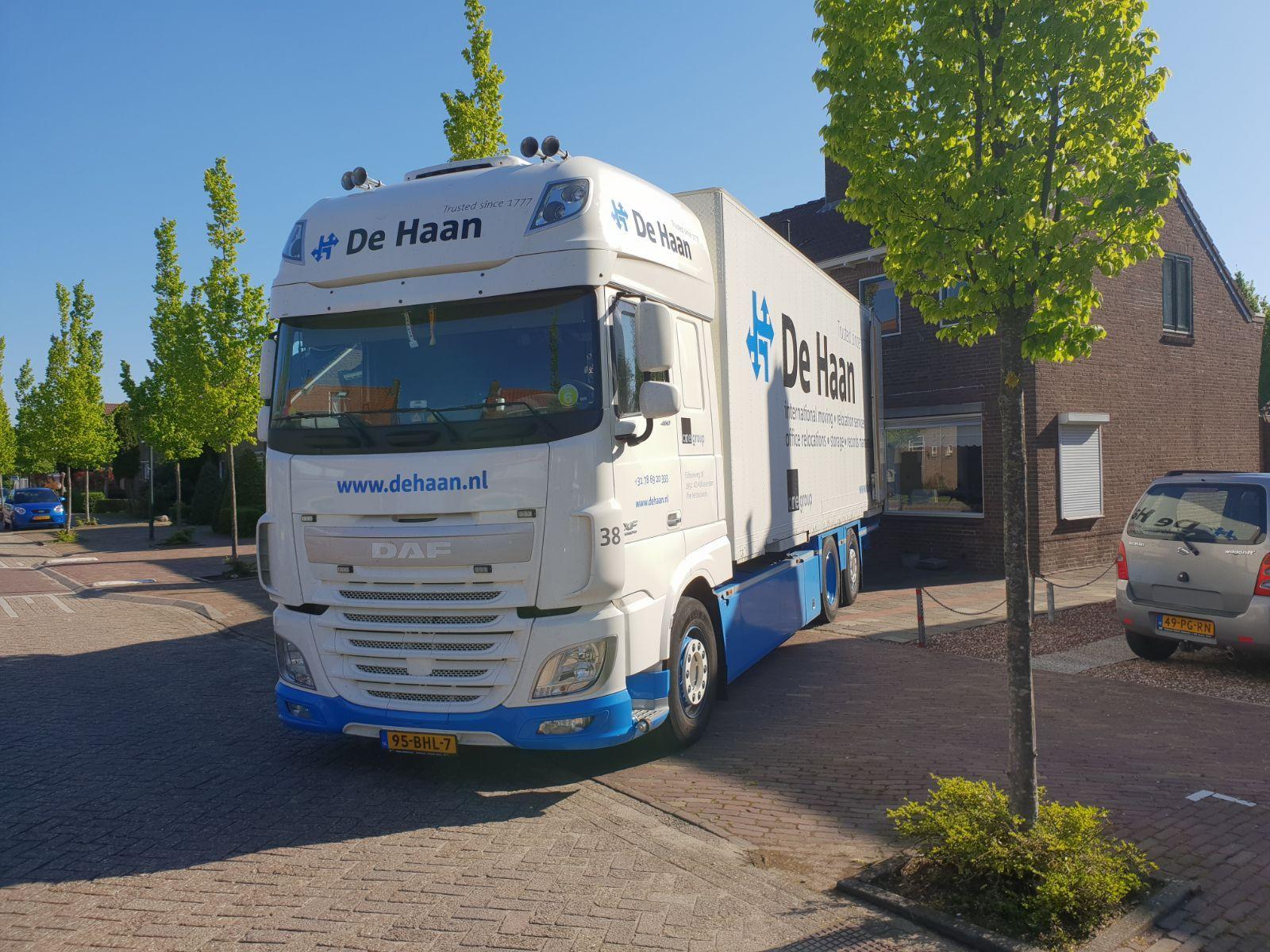'Complimenten voor verhuisbedrijf De Haan'